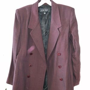 Vintage Linda Allard for Ellen Tracy maroon suit